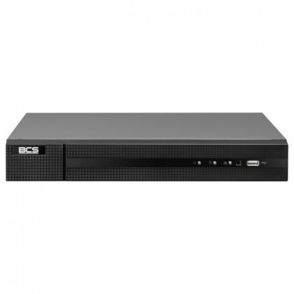 BCS-B-NVR0401-4P BCS Basic rejestrator 4 kanałowy IP PoE do 8Mpx
