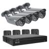 Zestaw BCS1 do monitoringu HD-CVI BCS Line rejestrator 4-kanałowy 4x kamera tubowa 2Mpx akcesoria