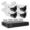 Zestaw BCS2 do monitoringu HD-CVI BCS Line rejestrator 4-kanałowy 4x kamera tubowa 2Mpx akcesoria