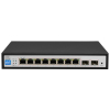 BCS-B-SP08G-2SFP BCS Basic switch PoE 10 portowy (8x RJ45 POE, 2x SFP)